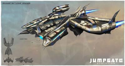 Un vaisseau capital Ravager