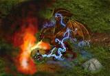 Combat contre un dragon par Cirdan