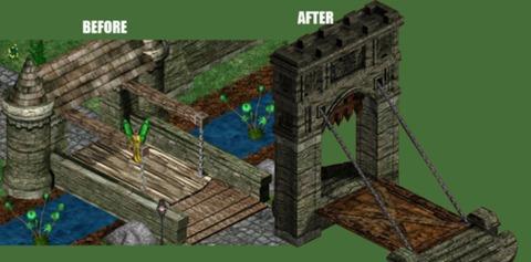 pont levis avant / après