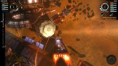 Vaisseaux Genide et Tyi explorants les débris d'une station spatiale