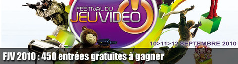 450 entrées gratuites pour le Festival du Jeu Vidéo de Paris