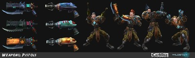 Image article Polycount sur les graphismes - WildStar Swilliams Pistols