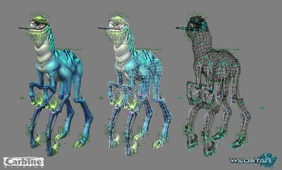 Image article Polycount sur les graphismes - WildStar KennyMcB HookFoot XSI Presentation RIG