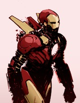 illustration de Ironman par Andy Trabbold