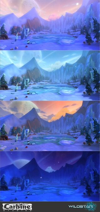 Image article Polycount sur les graphismes - WildStar TimesofDay Whitevale