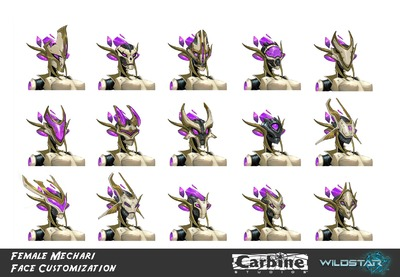 Image article Polycount sur les graphismes - WildStar koryLynnHubbell mechariface customization