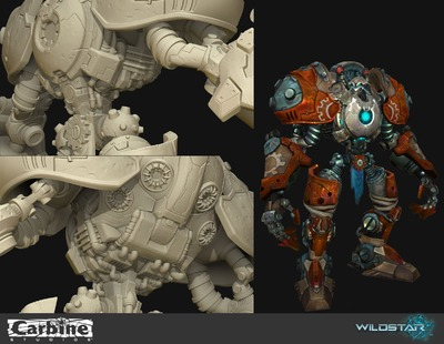 Image article Polycount sur les graphismes - WildStar TSincich ExileWarbot close