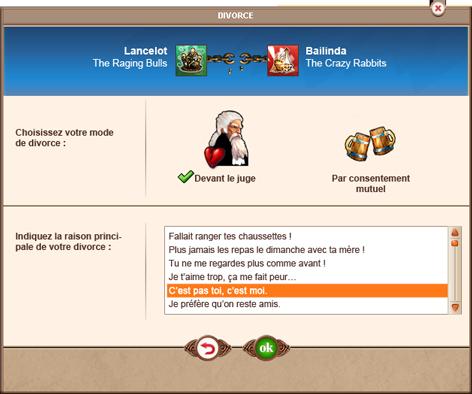 Descendance, Nouvelle Carrière et Divorce dans Might And Magic : Heroes Kingdoms