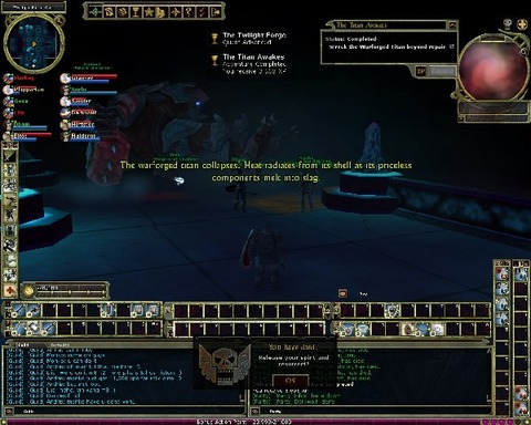 Le Titan est tombé hier sur Lyrandar (29 novembre)