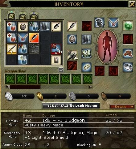 Dungeons and Dragons Online Unlimited - Les systèmes de rangement