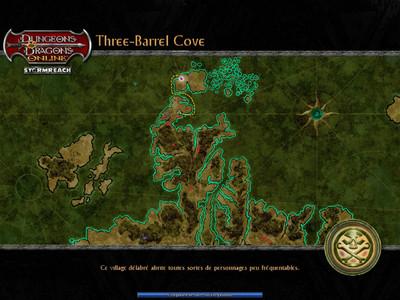 La Crique des Barriliers/Three Barrel Cove - Début du jeu