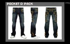 Le jeans avec des motifs dragon du pack Pocket D