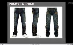 Le jeans avec des motifs étoile du pack Pocket D