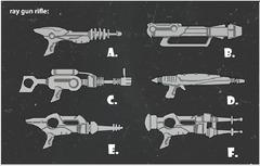 Propositions de fusils laser.