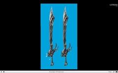 Epée et katana d'inspiration chinoise