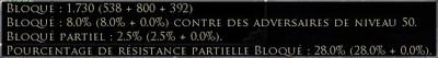 """Info-bulle de la caractéristique """"bloqué"""""""