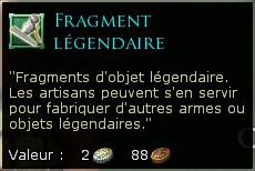 Infobulles de rune d'héritage et de fragments légendaires