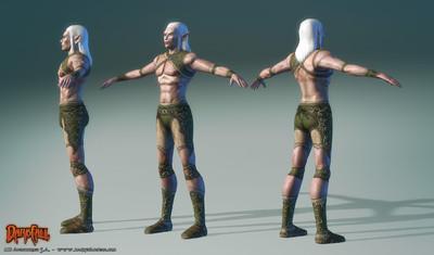 Amélioration des modèles de personnages : les mirdains
