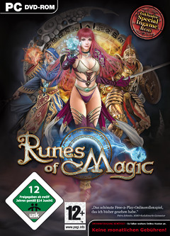 Visuel de la boîte de la version allemande de Runes of Magic