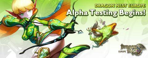 Dragon Nest Europe en « alpha test » du 23 au  27 novembre