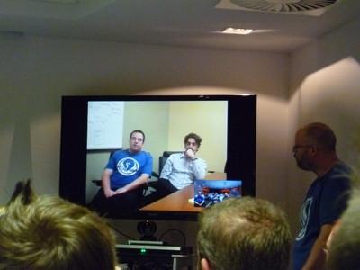 Holo-conférence avec Georg et Emmanuel