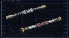 Double Sabres laser Jedi Consulaire