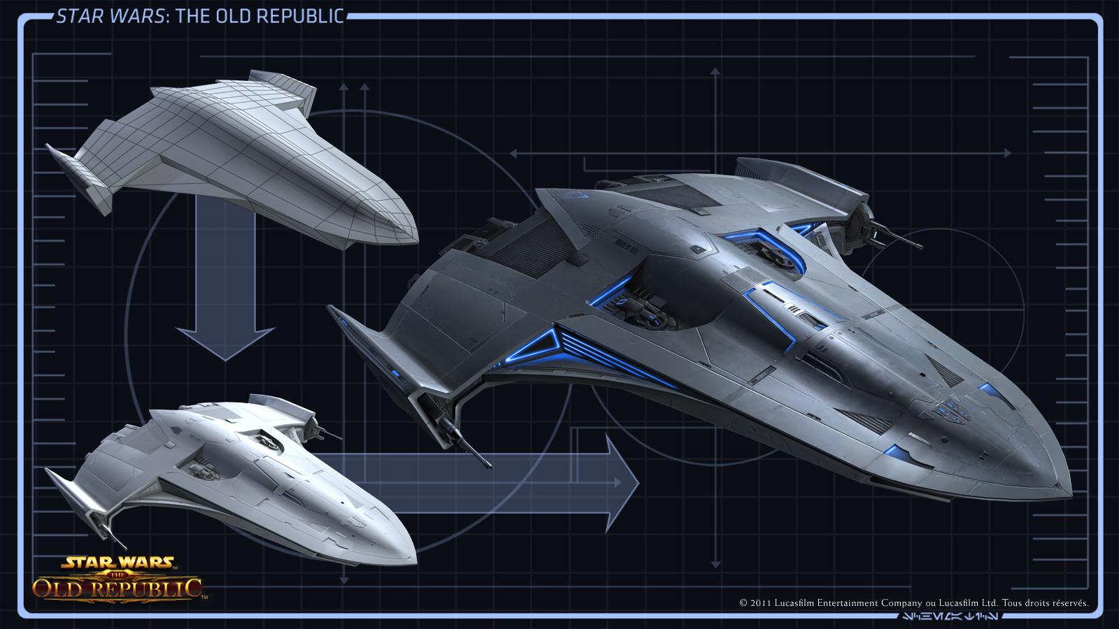 Star wars the old republic au c ur du studio la for Interieur vaisseau star wars