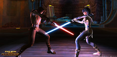 Sith vs Jedi, effets de lumière