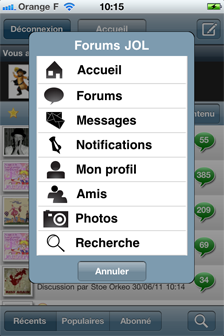 Application JeuxOnLine iPhone Android