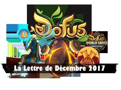 Dofus - Lettre du mois de Décembre 2017