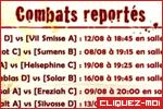 Combats reportés jour 2