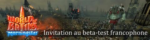 1000 invitations à rejoindre le bêta-test francophone de World of Battles