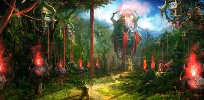 Empire perdu des Devas, dans la Forêt Oubliée