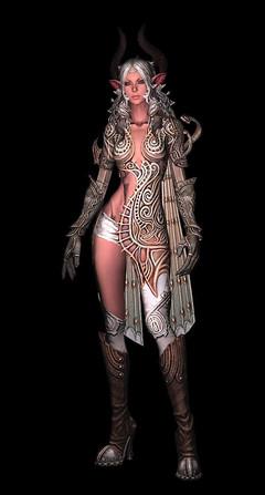 Rendu d'armure en cuir - Castanic - niveau 60