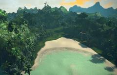L'île embrumée en images