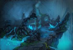 Carte : la chambre du magma, caverne inondée