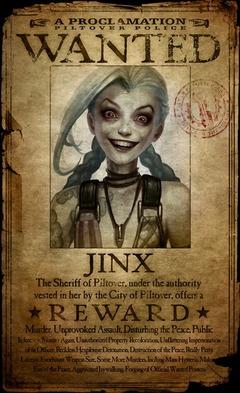 Jinx se révèle, une psychopathe dans League of Legends