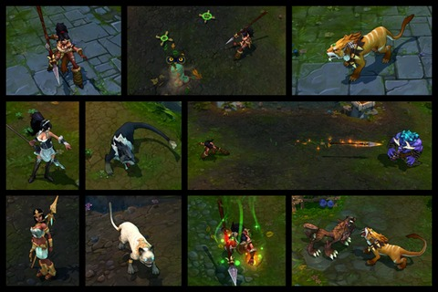 Refonte graphique : Nidalee, Chasseresse bestiale