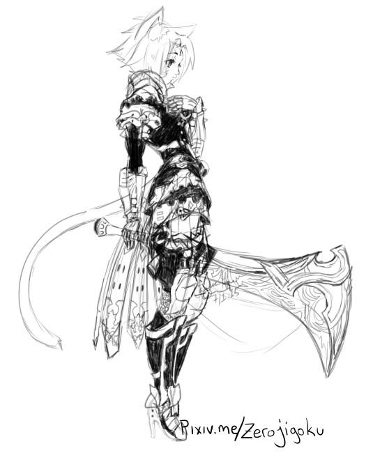 FFXIV Female Miqo'te Paladin par Zerojigoku