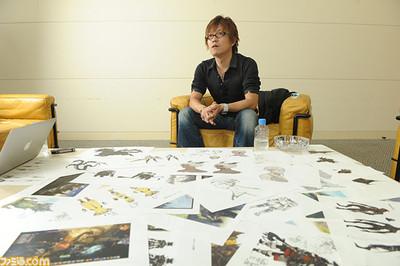Naoki Yoshida lors de l'interview de Famitsu