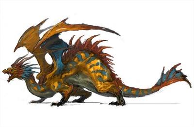 Image conceptuelle d'un dragon pour la v2