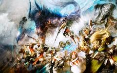 Combat contre Behemot, par Kazuya Takahashi