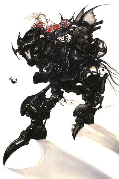 Terra sur un Magitek Armor dans FFVI