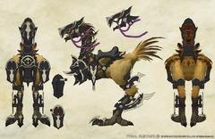 "Chocobo avec armure ""Chevalier Dragon"""