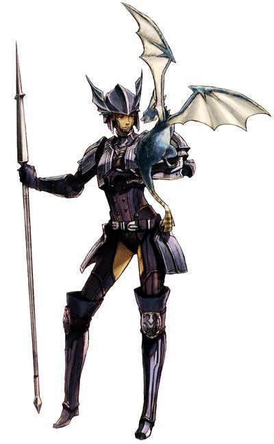 Le chevalier dragon dans Final Fantasy XI