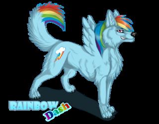 Cliquez sur l'image pour la voir en taille réelle  Nom : rainbow_dash_as_canine_by_suzamuri-d3ycmuq.png Taille : 900x703 Poids : 344,8 Ko ID : 144111