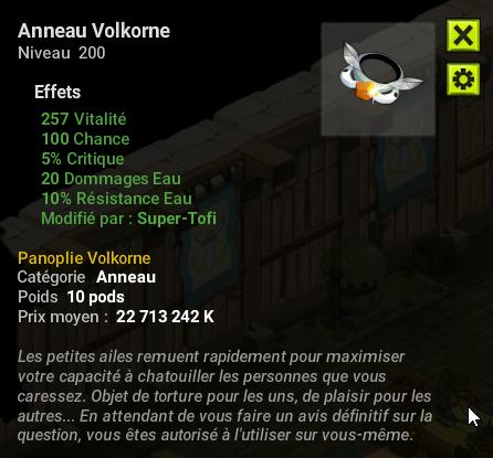 Est Anneau Volkorne Jet Dofusbook