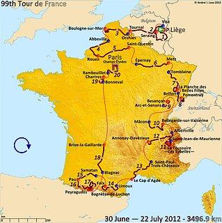 Cliquez sur l'image pour la voir en taille réelle  Nom : Route_of_the_2012_Tour_de_France.jpg Taille : 3198x3204 Poids : 1,47 Mo ID : 199875