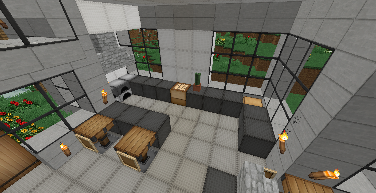 deco maison minecraft ventana blog. Black Bedroom Furniture Sets. Home Design Ideas