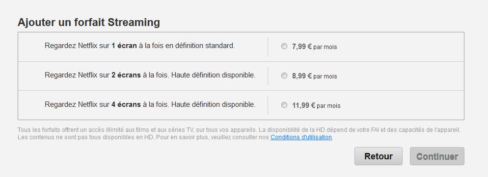 Cliquez sur l'image pour la voir en taille réelle  Nom : Netflix-France-tarifs.png Affichages : 289 Taille : 29,9 Ko ID : 231378